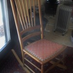 Antique Wood rocking Chair-$200