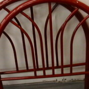 SOLD! Red Headboard with Matching Foot board